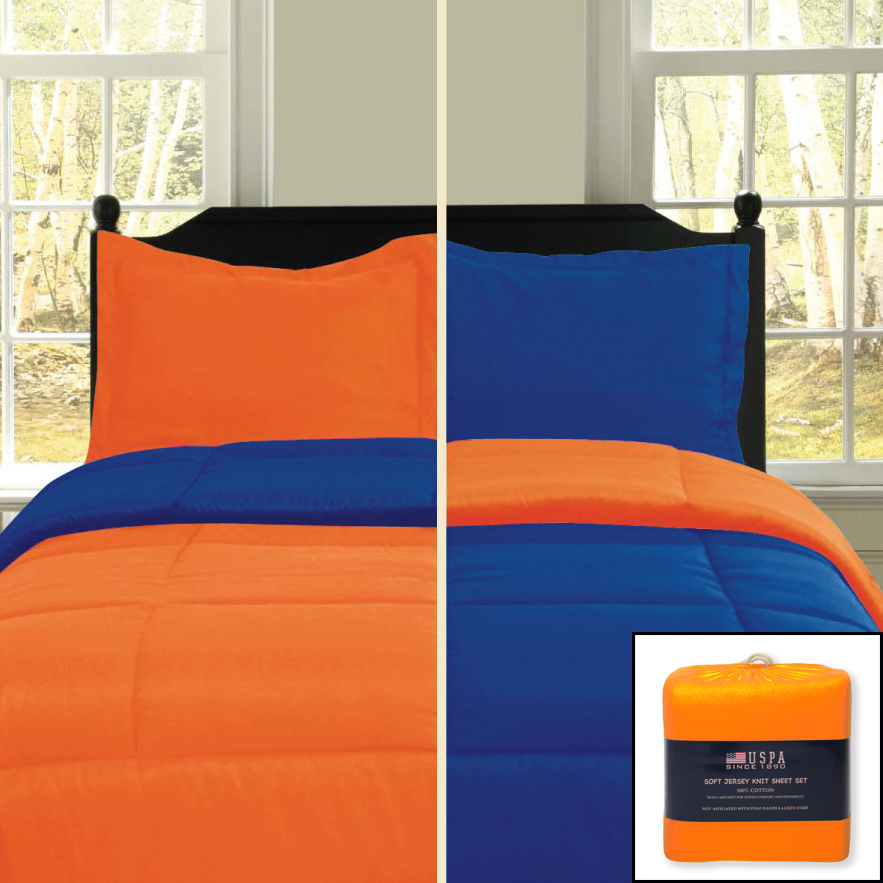by comforter q jojo size piece or set navy bedding designs nv sets sweet twin orange arrow
