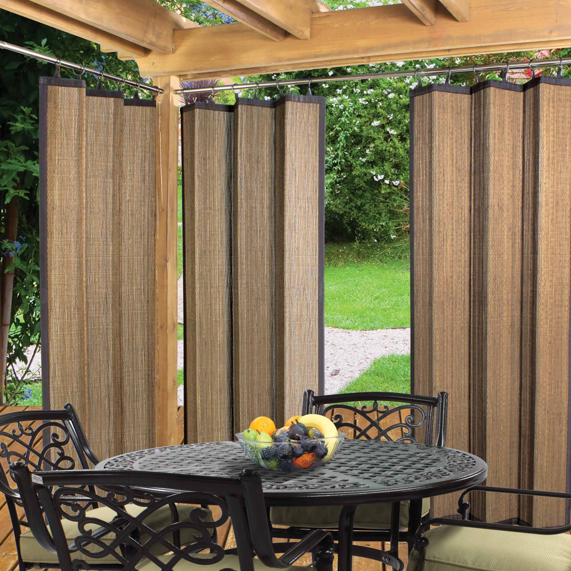 Outdoor curtains drop cloth - Diy Patio Curtains From Drop Cloths With No Sewing Tered