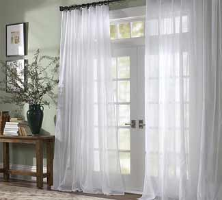 Decorating with Sheer Curtains