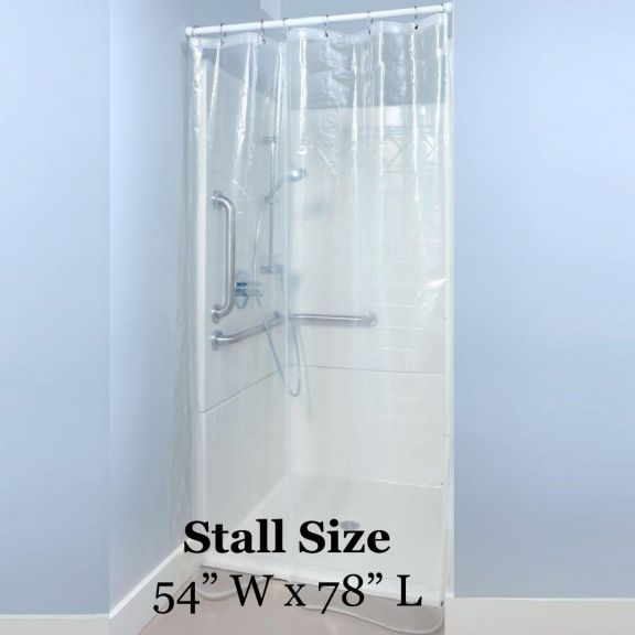 CLEAR Shower Stall Liner