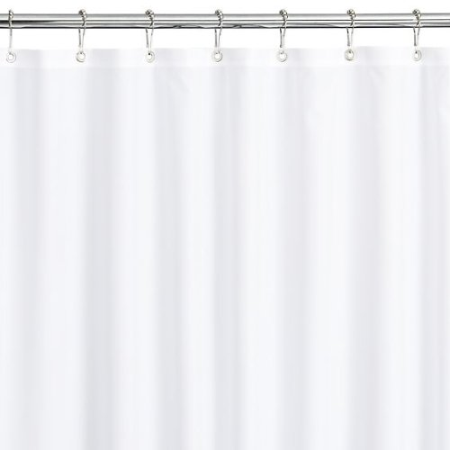 Bulk Case Pack Hotel White Vinyl Shower Curtain - 12 Pack ...