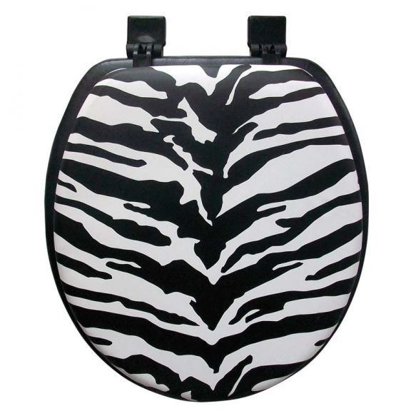 Superb Ginsey Zebra Soft Toilet Seat Gmtry Best Dining Table And Chair Ideas Images Gmtryco