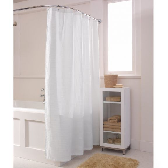 White Waffle Shower Curtain maytex waffle solid white fabric shower curtain | altmeyer's