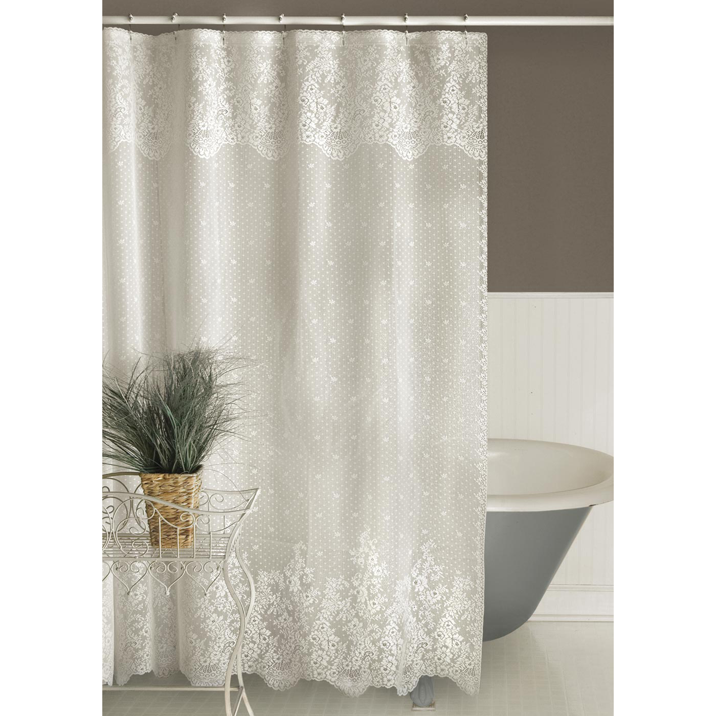 Heritage Lace Floret Lace Shower Curtain Altmeyer S