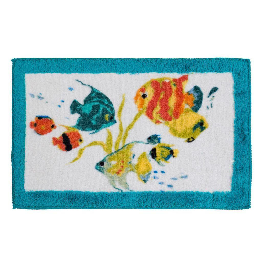 Creative bath rainbow fish bath rug bedbathhome com for Fish bath rug