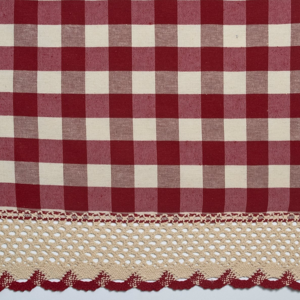 Buffalo Gingham Check Kitchen Tier Curtains