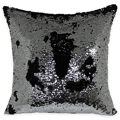Brentwood Mermaid Sequin Throw Pillow In SilverBlack Fascinating Brentwood Originals Decorative Pillows And Chair Pads