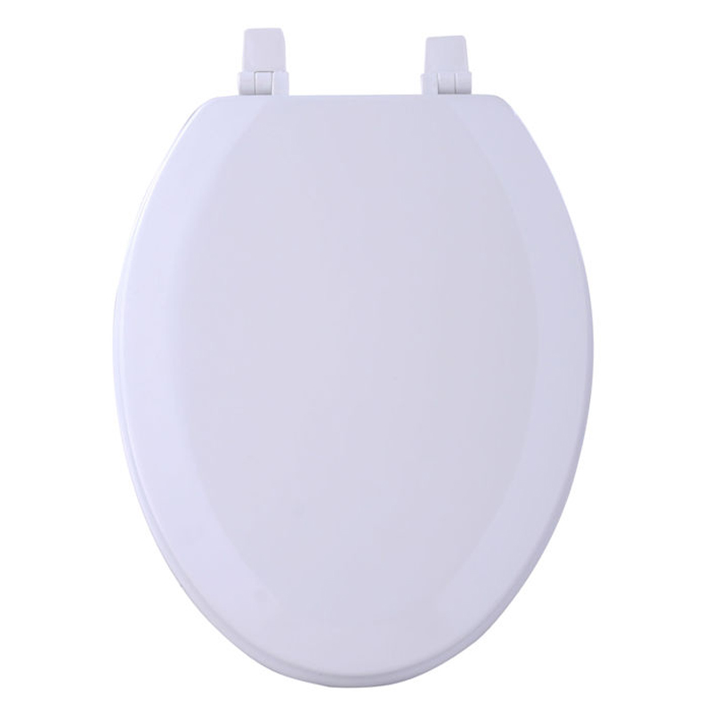 White ELONGATED Wooden Toilet Seat BedBathHome Com
