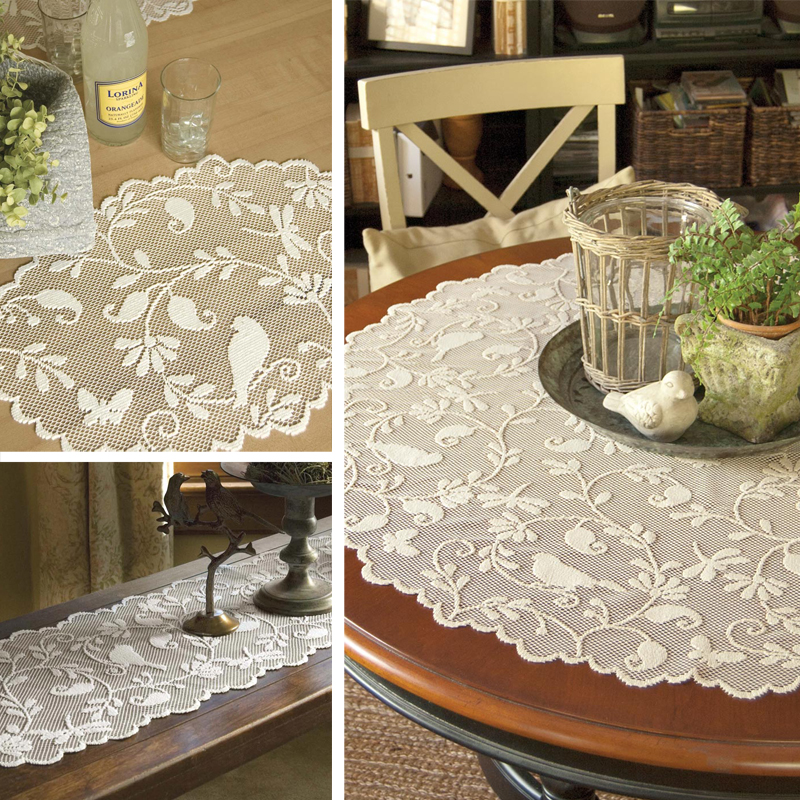 Bristol Garden Scarves, Placemats and Table Topper by Heritage Lace