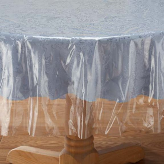 Crystal Clear Tablecloth Cover   Vinyl Table Protector