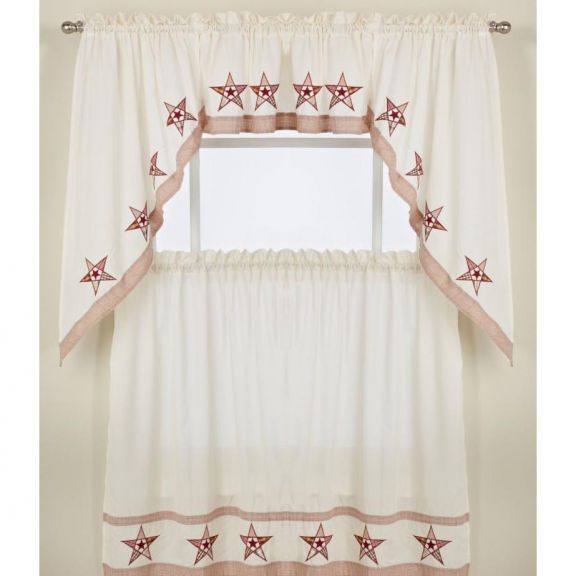 Kitchen Tier Curtains|Swag Pair and Valance|Country Stars