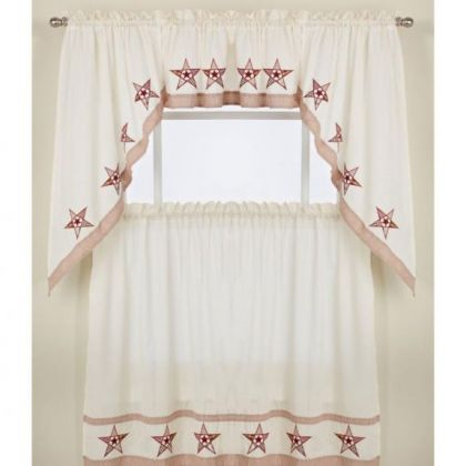 Kitchen curtains tier curtains altmeyer 39 s bedbathhome - Country kitchen curtains and valances ...