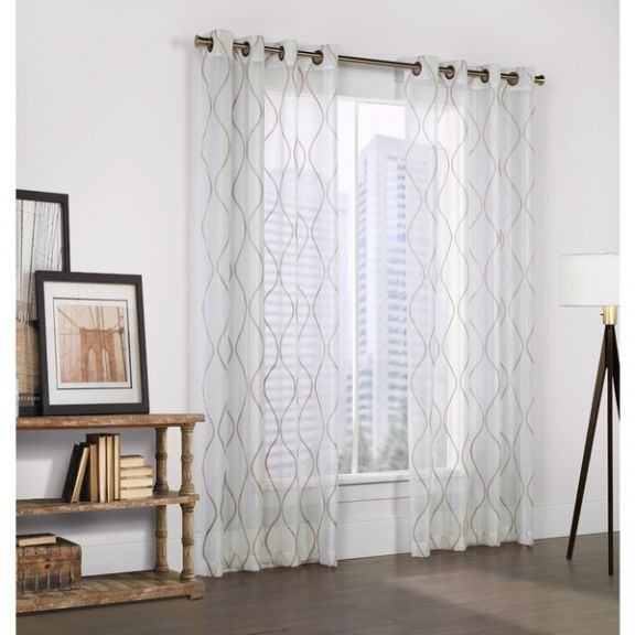 linen curtain panels. Crystal Embroidered Faux Linen White Curtain Panel Panels