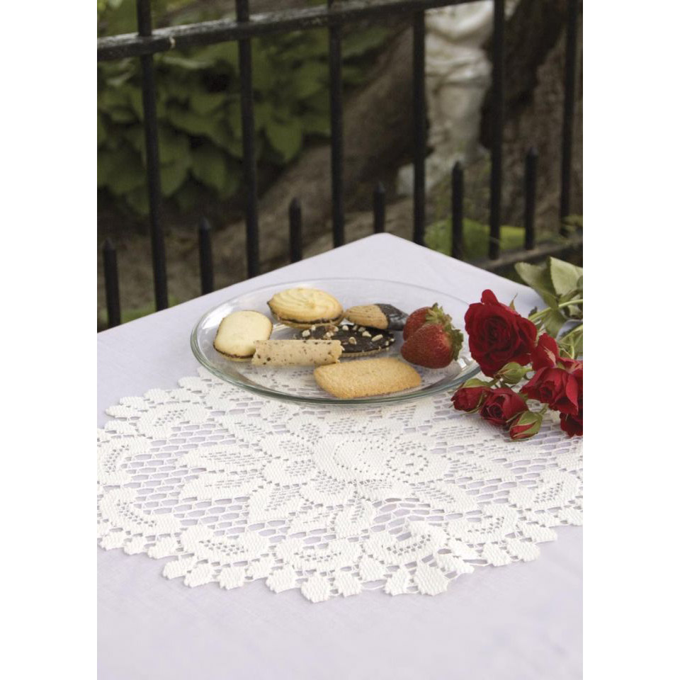 Rose Doilies And Scarves By Heritage Lace Bedbathhome Com