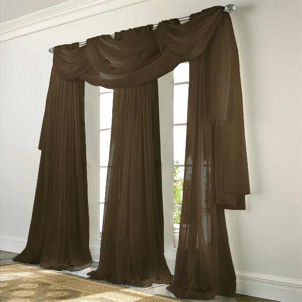Chocolate Brown Valance Curtains Easy Valance Curtains
