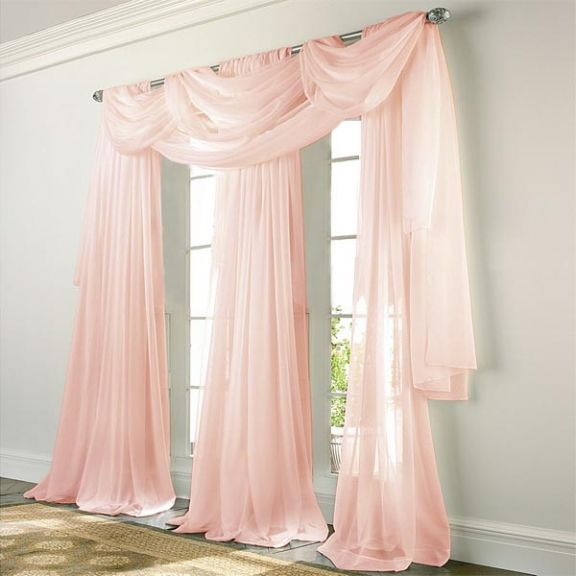 Elegance Voile PINK Sheer Curtain
