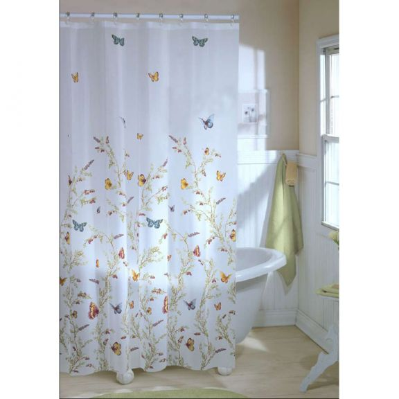 Garden Flight Butterfly EVA Shower Curtain BedBathHomeCom