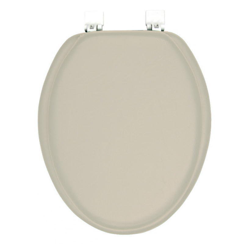 Ginsey Solid Champagne Beige Elongated Padded Toilet Seat