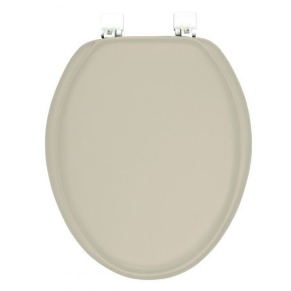Ginsey Solid Champagne - Beige ELONGATED Padded Toilet Seat