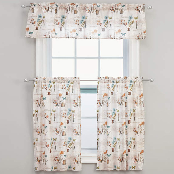 le jardin floral tier curtains or valance altmeyer 39 s