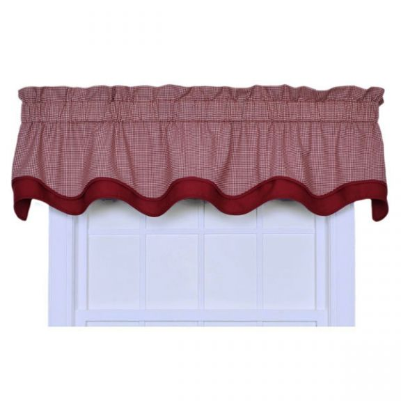 exceptional Red And Grey Valance Part - 13: Logan Red Gingham Check Bradford Window Valance