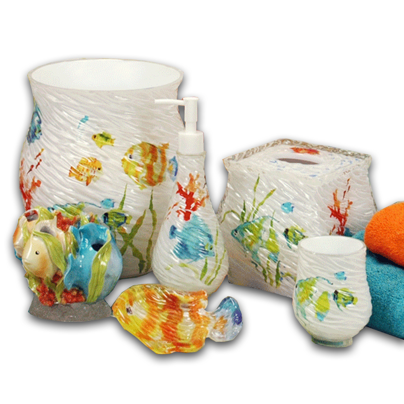 Rainbow Fish Bath Accessories