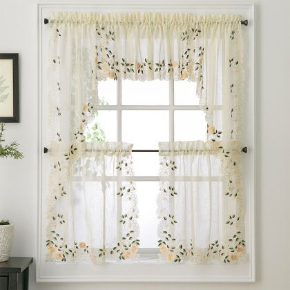 White Diana Macrame Lace Tailored Curtain Altmeyer 39 S