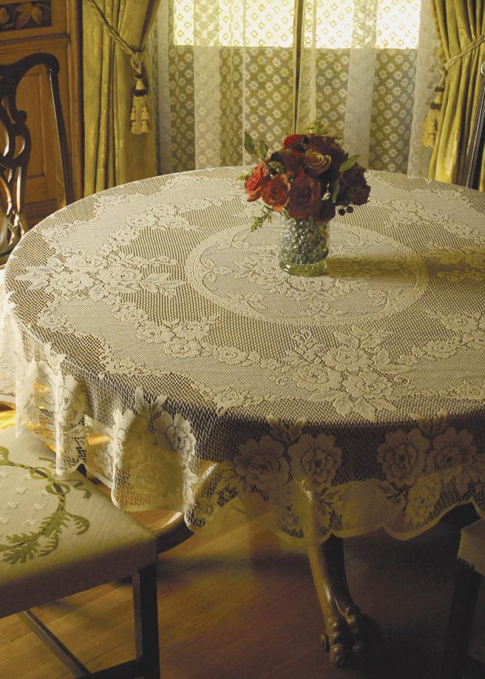 Victorian Rose Table Linens By Heritage Lace Bedbathhome Com