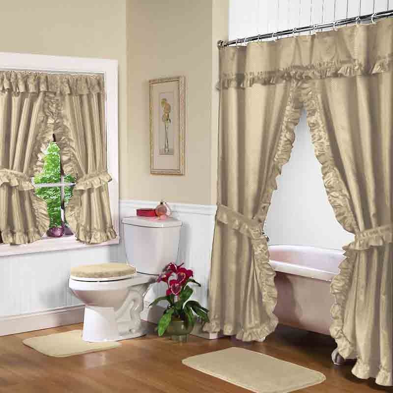 Linen lauren double swag shower curtain w available window curtain