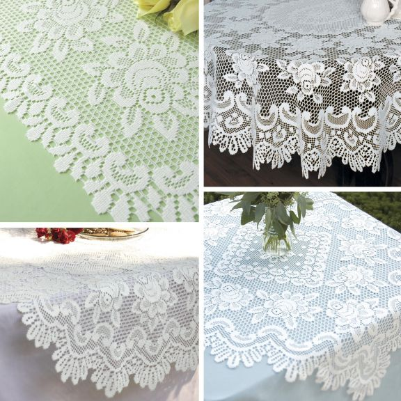 Rose Placemats And Tablecloths By Heritage Lace