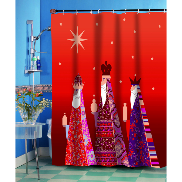 Christmas Three Kings Shower Curtain