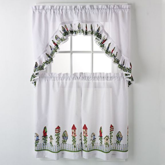 Birdhouse Kitchen Curtains Simple Ideas