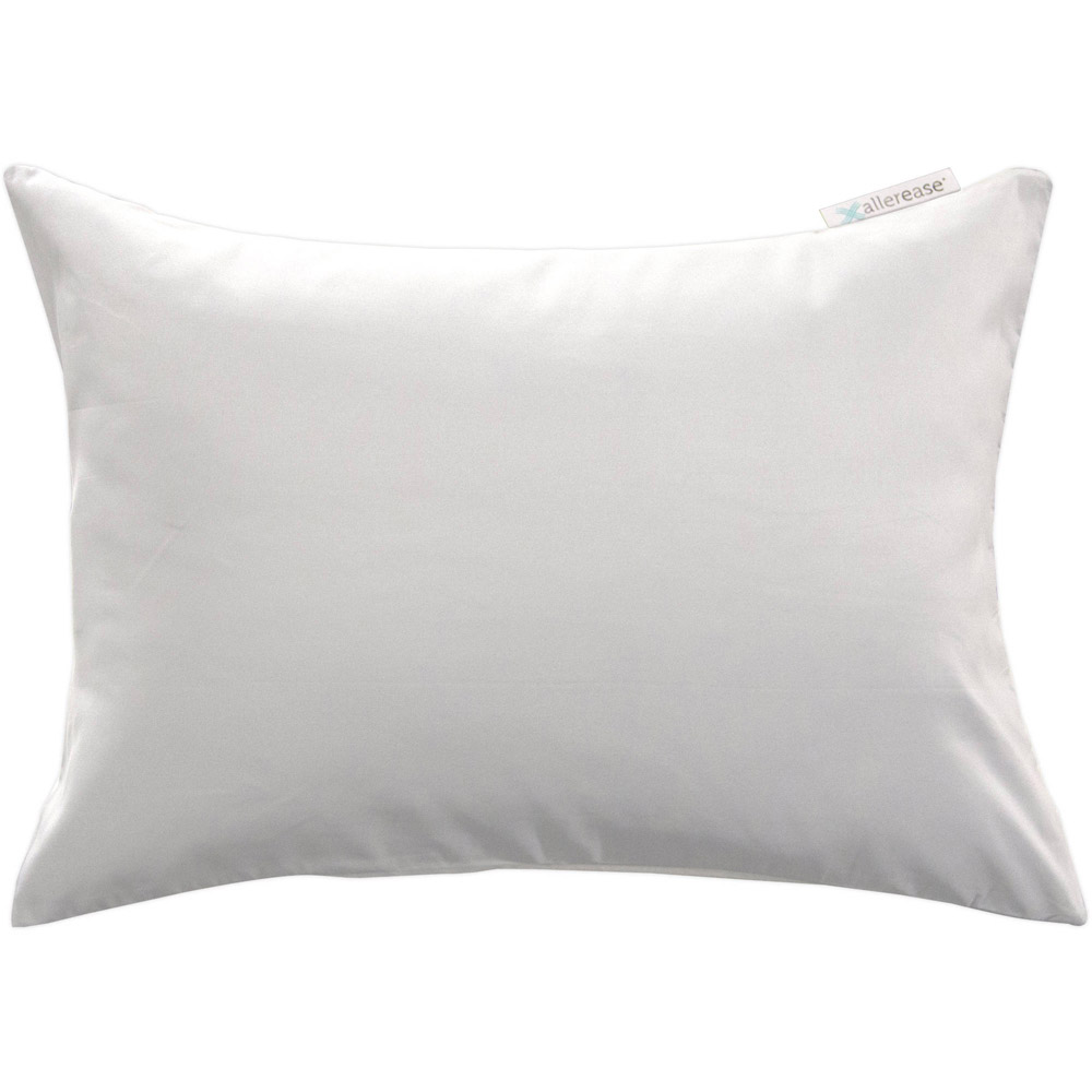 Allerease Zippered Travel Pillow Protector In White