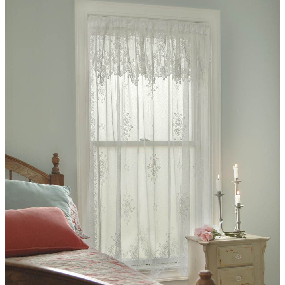 Tea Rose Lace Curtains by Heritage Lace