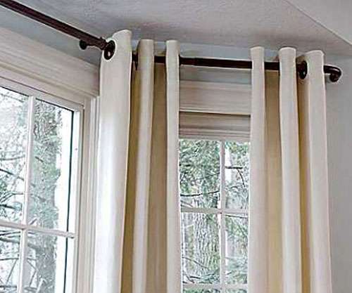 Curtains Ideas bay window curtain rod set : Versailles Bay Window Rod Set: BedBathHome.Com