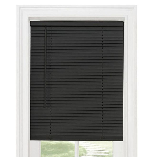Black Vinyl 1in Cordless Mini Blinds Altmeyer S Bedbathhome