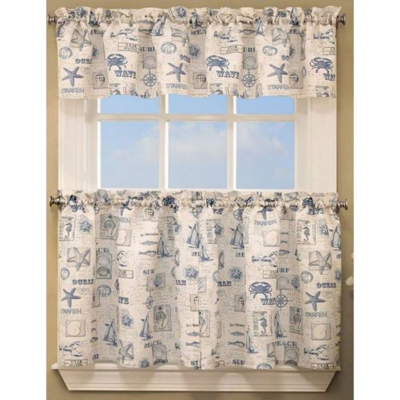 Lorraine By The Sea Kitchen Tier Curtains