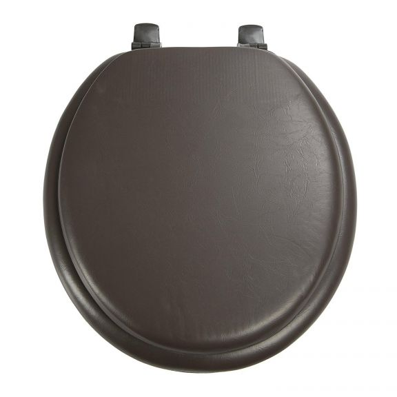 Ginsey Solid Chocolate Brown STANDARD Padded Toilet Seat