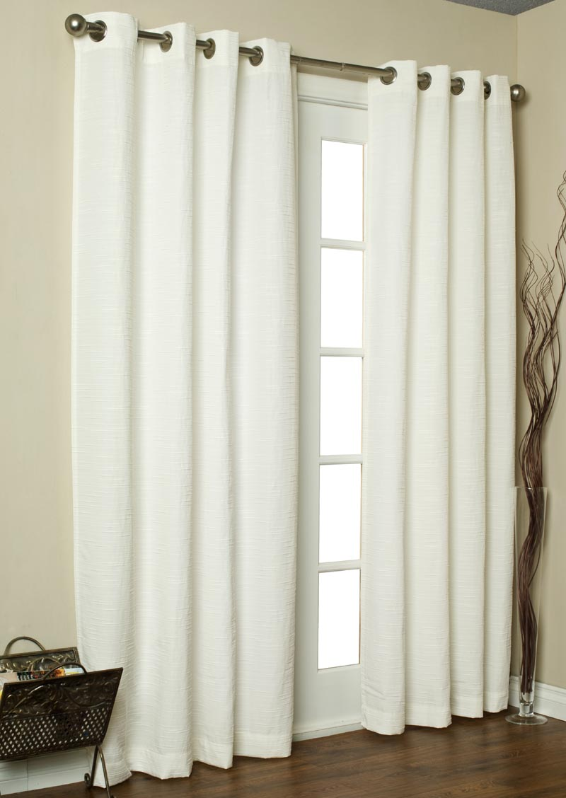 Kids' Curtains: Kids White Ruffle Curtain Panels in All Room Decor