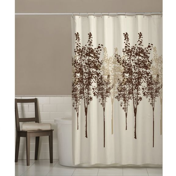 Delaney Fabric Tree Shower Curtain By Maytex