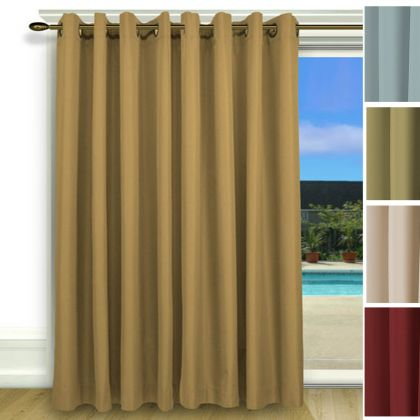 One Way Draw Patio Curtain | Thermal Patio Door Curtain ...