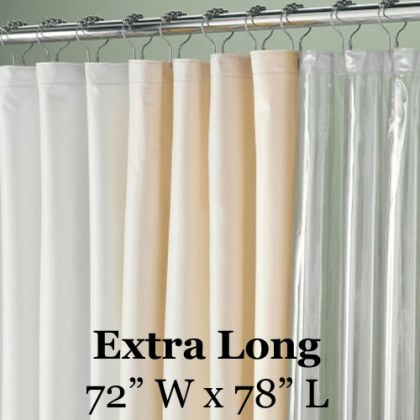 speciality size 78in extra long shower liner
