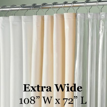 Speciality Sized 108in Extra Wide Vinyl Shower Liner