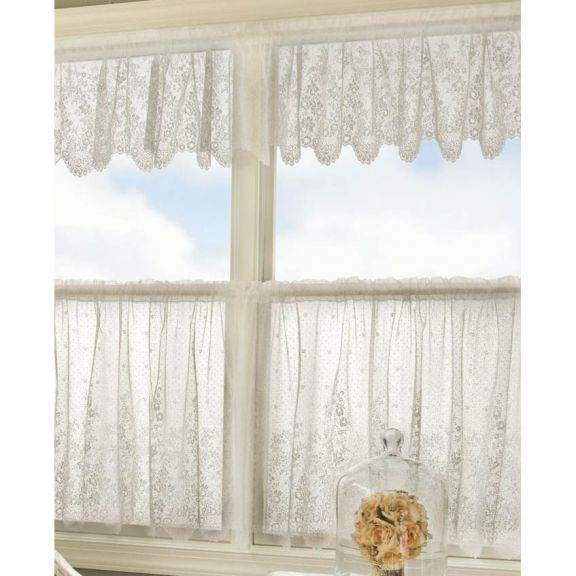 Floret Lace Curtains By Heritage