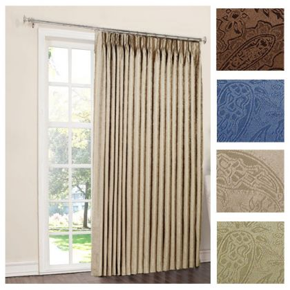 Gabrielle Pinch Pleat Thermal Room Darkening Patio Panel Curtain