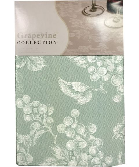 Great Sage Green Grapevine Vinyl Tablecloth Or Placemat