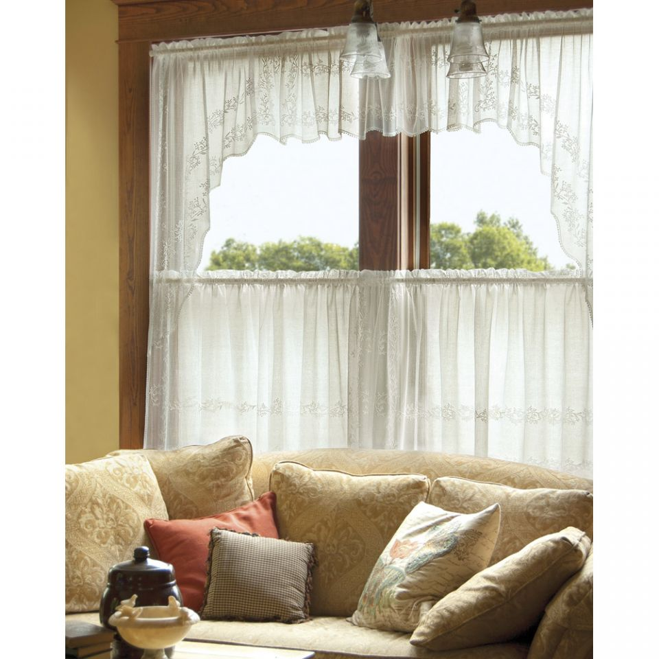 ivory pocket rod polyester valance style in valances sheer shop cecelia selections pd