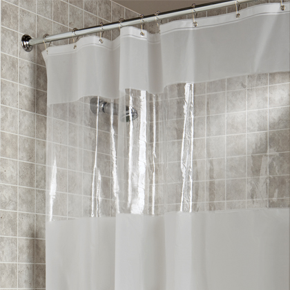 Hitchcock STANDARD SIZE EVA Vinyl Window Shower Curtain