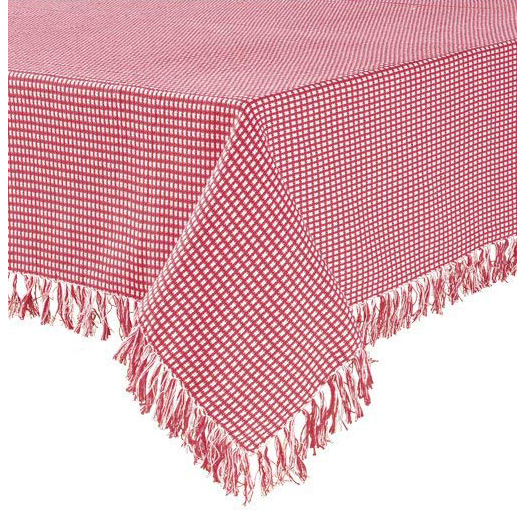Homespun Check Woven Cotton Tablecloth In Red Altmeyer S