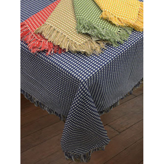 Homespun Check Woven Reversible Tablecloth